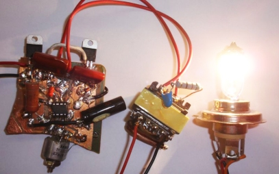 "Homemade Switch-mode"" Halogen Light Power Supply"