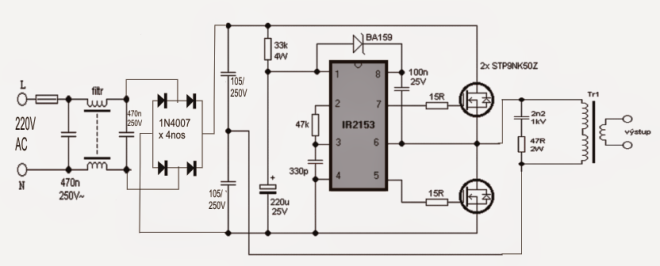 halogen lamp circuit